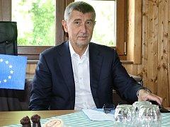 Exministr financí Andrej Babiš na setkání starostů ve Zbraslavicích na Kutnohorsku.