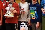 Z kreativní soutěže o nejzajímavějšího sněhuláka.