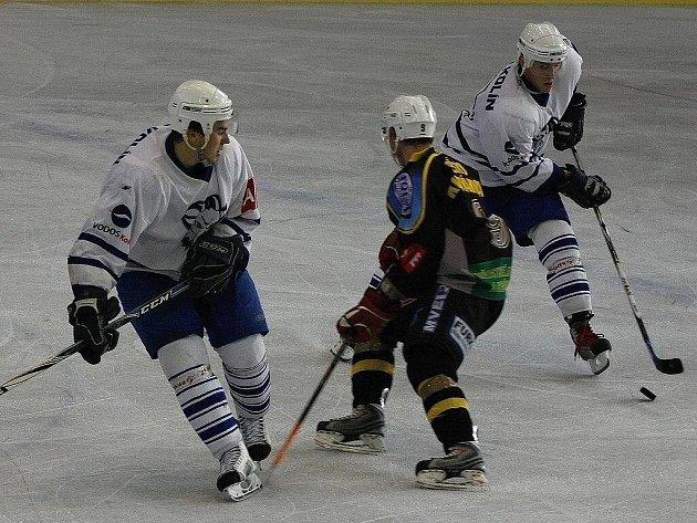 Z hokejového derby druhé ligy Kutná Hora - Kolín (4:1)