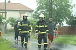 Ze zásahu hasičů u lokální záplavy ve Svaté Kateřině.