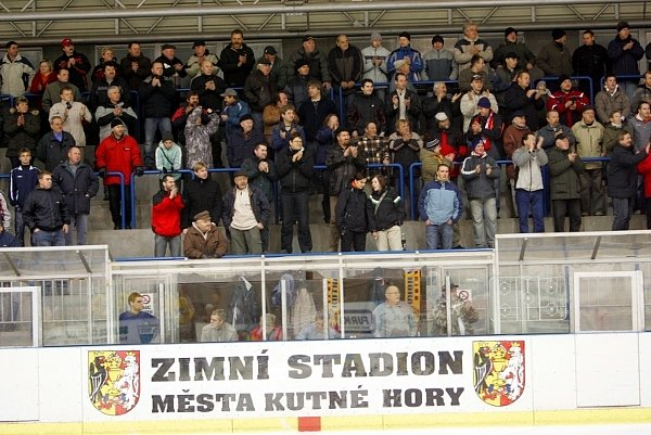 Z hokejového utkání Kutná Hora - Slaný.