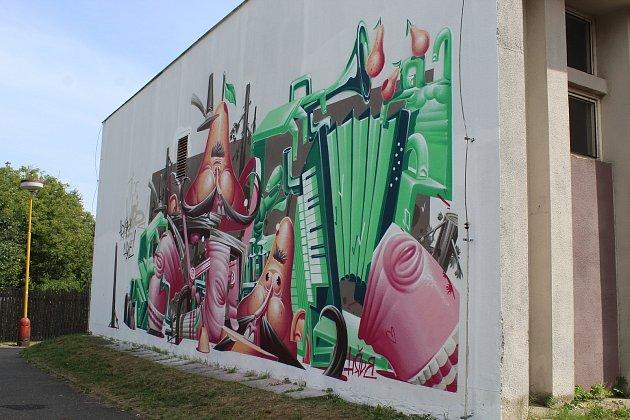 Streetart festival v Kutné Hoře.