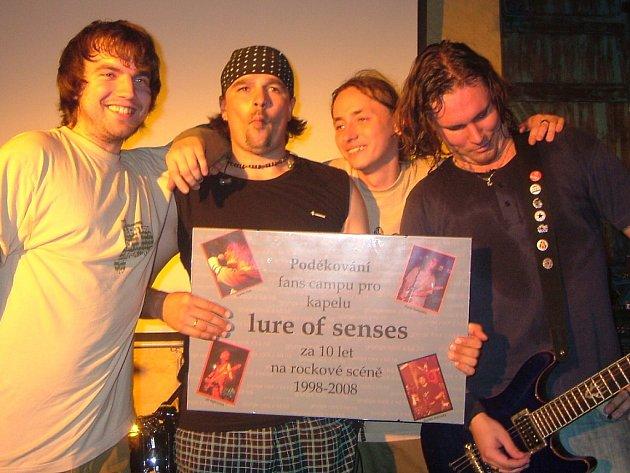 Kapela Lure of Senses v době, kdy slavila v kutnohorském klubu Česká 1 deset let své existence.