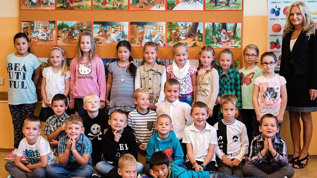 Základní škola Zruč nad Sázavou, třída I.B paní učitelky Aleny Šimkové.