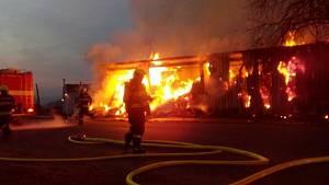 Zásahy hasičů u požárů v roce 2018