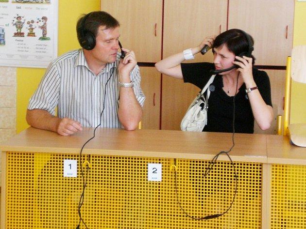 Ze setkání u příležitosti dokončení projektu s názvem Vybavení učeben I. Základní školy ve Zruči nad Sázavou.