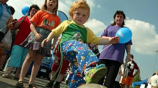Zábavné odpoledne nabídlo dětem také trochu sportu.