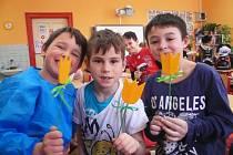 Přípravy na velikonoční jarmark na Základní škole T. G. Masaryka v Kutné Hoře.