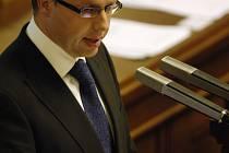 Poslanec Ondřej Plašil ve sněmovně.