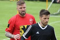 Tomáš Řepka si zahrál v červenojanovickém dresu už na charitativním turnaji v malé kopané 'Kopeme za Barboru', který se tam konal v sobotu 18. července 2020.