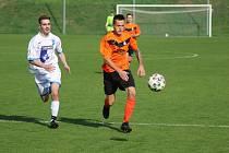 Z fotbalového utkání okresního přeboru Kutná Hora B - Paběnice (7:0)