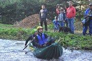 Vodáci sjížděli Vavřinecký potok.