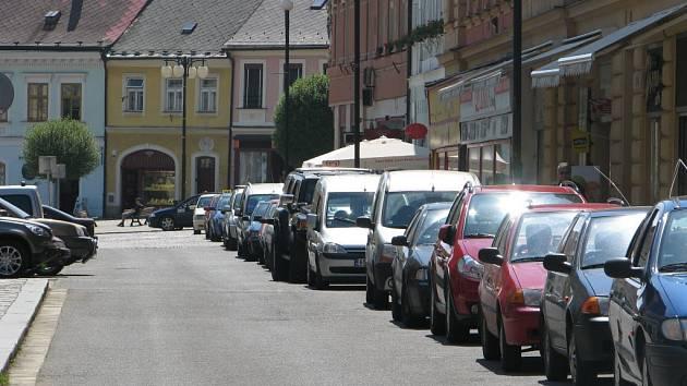 Obsazení parkovacích míst v Kollárově ulici.
