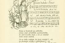 Vánoční koleda z Vinař, kterou obsahovalo čtvrté číslo sedmnáctého ročníku vlastivědného sborníku Podoubraví.