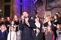 Z Vánočního koncertu Josefa Vágnera s dětskými pěveckými sbory Muscina a Koťata.