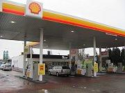 Čerpací stanice Shell v kutnohorském Malíně.