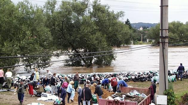 Lidé čelili vodnímu živlu.