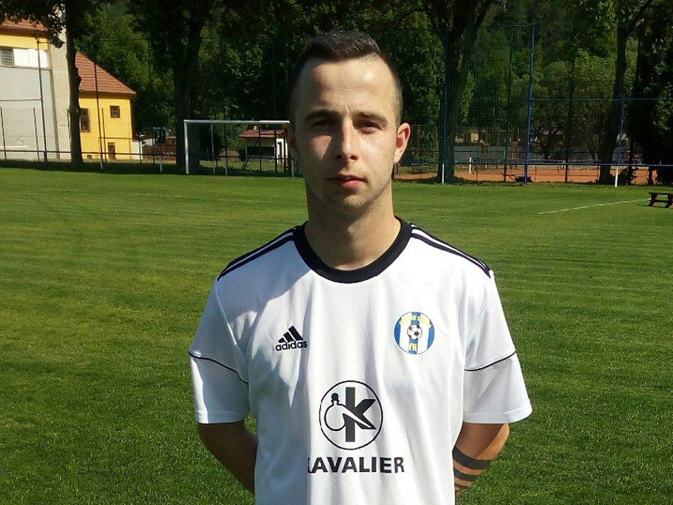 Útočník FK Kavalier Sázava Antonín Keltner.