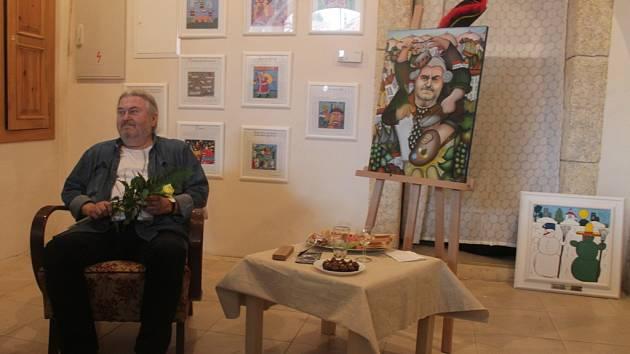 Zahájení výstavy obrazů Františka Ringo Čecha v Galerii naivního umění v Kutné Hoře