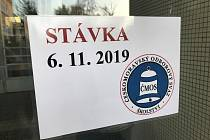 Stávka učitelů ve středu 6. listopadu 2019.