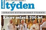 Titulní strana dvacátého sedmého čísla týdeníku Kutnohorský týden.