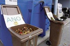 Do hnědých biopopelnic patří pouze rostlinný odpad.