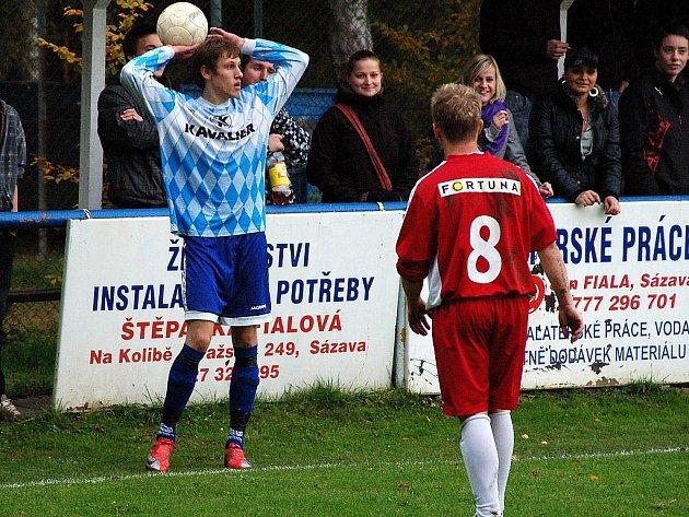 9. kolo okresního přeboru: Sázava - Zruč n. S., 16. října 2010.