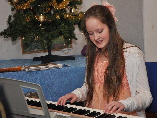 Vánočním koncert na zámku v Kácově.
