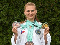 Úspěšná kutnohorská taekwondistka Martina Kopecká z Kaňku.
