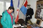 Anita Moravec Gard u Oldřicha Skaláka, autora knihy o generálu Františku Moravcovi.