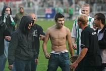 Z utkání II. ligy Čáslav - Bohemians 1905 1:1, sobota 27. září 2008