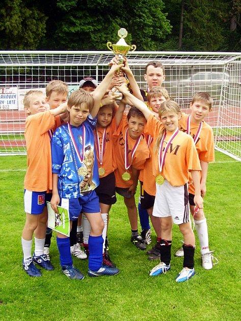 Z turnaje McDonald´s cup, vítězný tým ZŠ T. G. Masaryka
