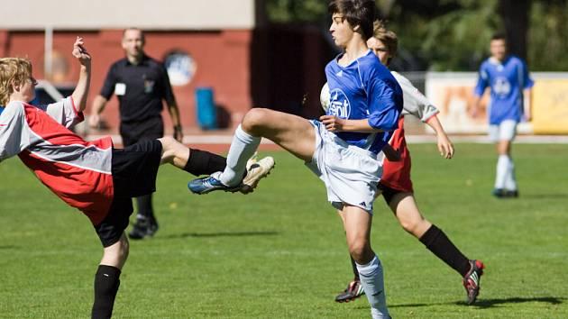 Z utkání divize dorostu ml. dorost Čáslav - Nymburk 8:3, sobota 13. září 2008