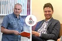 Kandidáti na předsedu OFS Kutná Hora v roce 2021. Současný předseda Dušan Roubíček (vlevo) a proti kandidát Jan Ďoubal.
