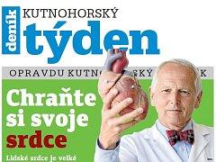 Titulní strana dvacátého devátého čísla týdeníku Kutnohorský týden.