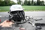 Tragická nehoda na čáslavském obchvatu