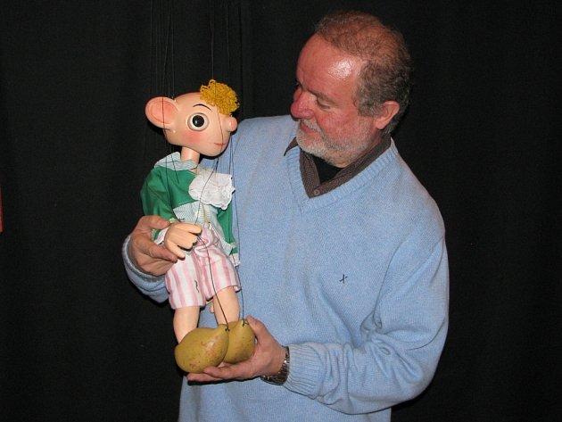 Představení Jak pan Spejbl prášil v Tylově divadle v Kutné Hoře.