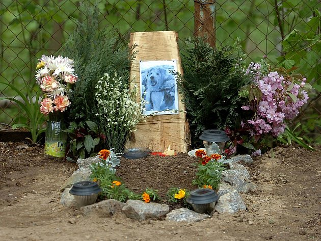 Otevření nového zvířecího hřbitova na Kaňku