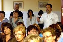 Schůze zaměstnanců nemocnice s kutnohorskými zastupiteli 6. 5. 2009