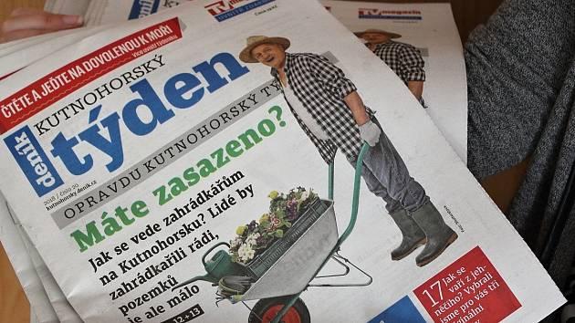 Titulní strana dvacátého čísla týdeníku Kutnohorský týden.