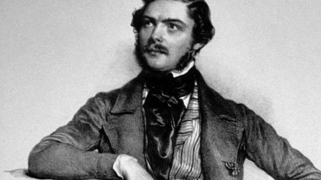Klavírista a hudební skladatel Alexander Dreyschock v mládí.