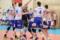 Semifinále Final four Českého poháru ve volejbalu 2019 mezi Kladnem a Karlovarskem v Kutné Hoře.