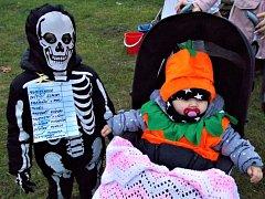 Halloween uspořádaný pro děti z Bílého Podolí a okolí.