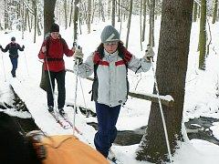 Z oddílového výletu na běžkách, který ze Štipoklas do Kutné Hory absolvovali kutnohorští turisté.