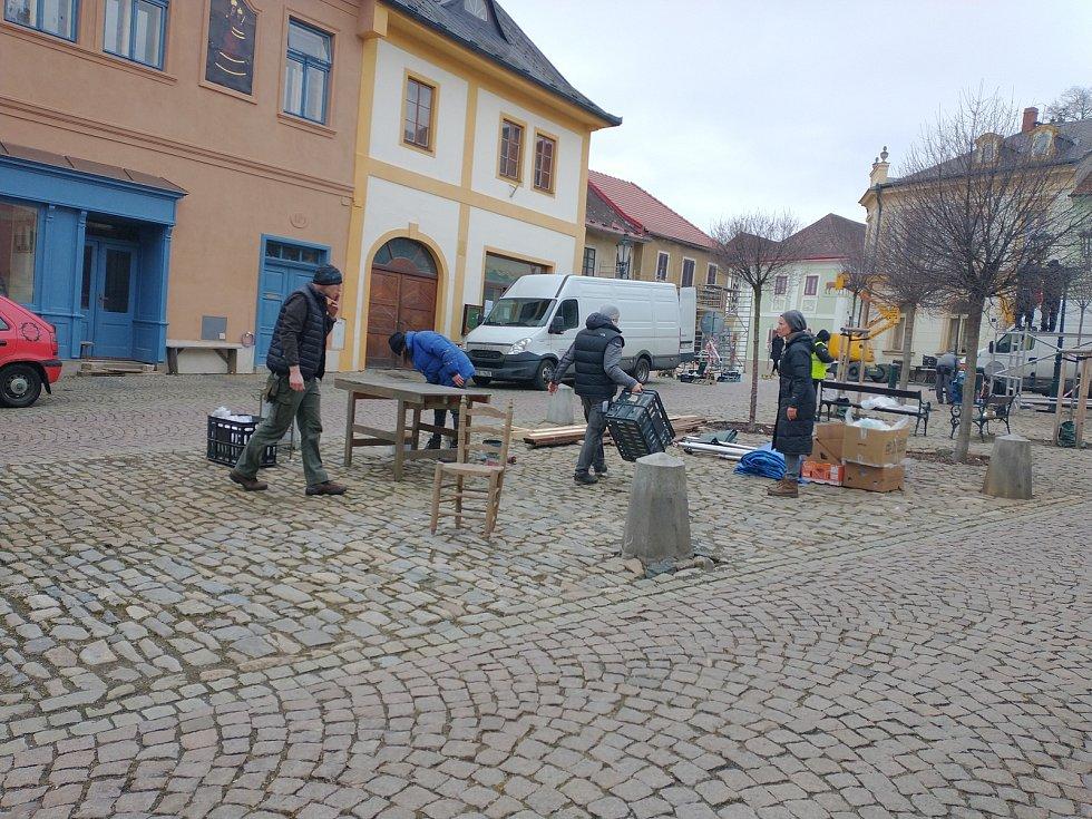 Z přípravy natáčení filmu White bird v Kutné Hoře.