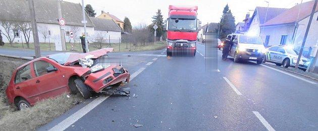 Dopravní nehoda vCírkvici - středa 17.ledna 2018.