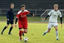 Fotbalista Jakub Süsser (v červeném) hraje v Německu za Bad Kötzing. Foto: FB Bad Kötzing