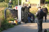 Dopravní nehoda ve Vlastějovicích.