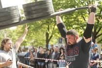 Ze soutěže Strongman na náměstí Jana Žižky z Trocnova v Čáslavi.