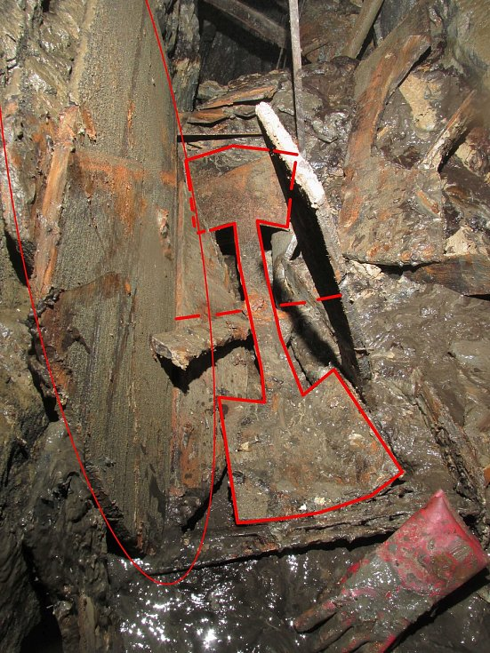 Kutnohorské podzemí vydalo další tajemství: středověký důlní stroj.